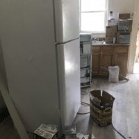 Apartment with a new fridge